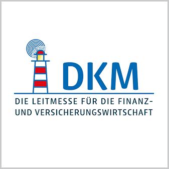Logo DKM die Leitmesse für die Finanz- uns Versicherungswirtschaft