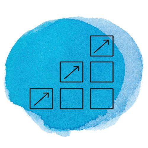 Symbol Finanzvertriebe auf Farbkleks