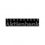 Augsburger Aktienbank Logo schwarzweiß