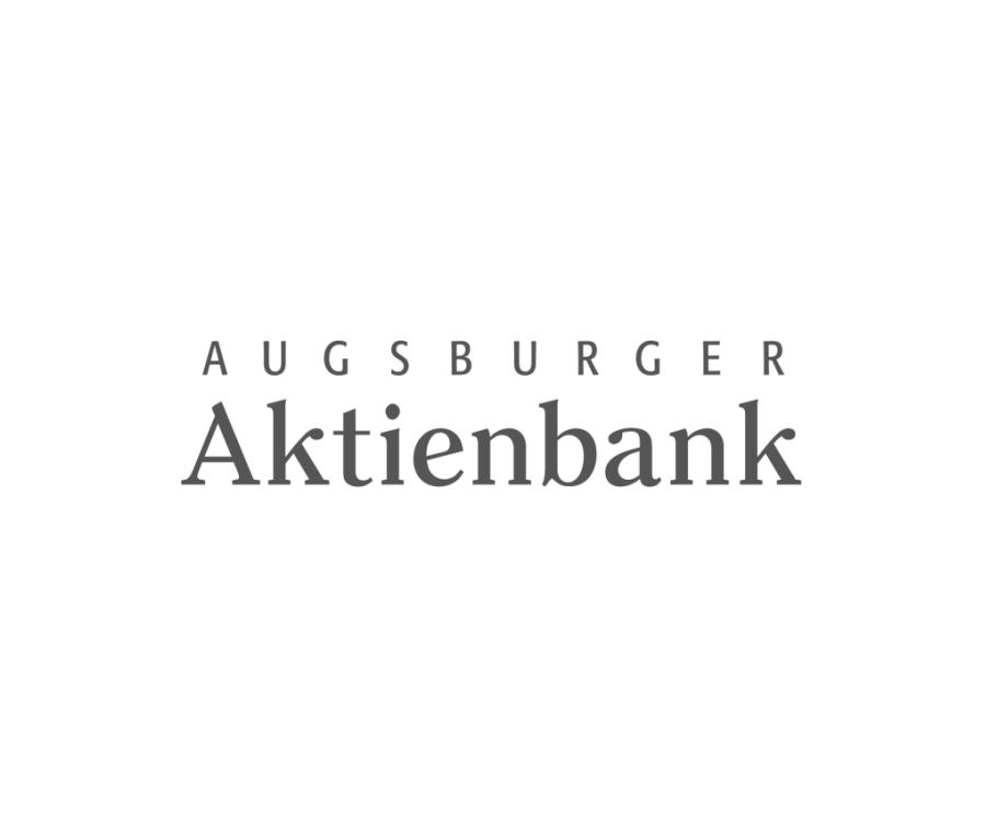 Logo Augsburger Aktienbank schwarzweiß