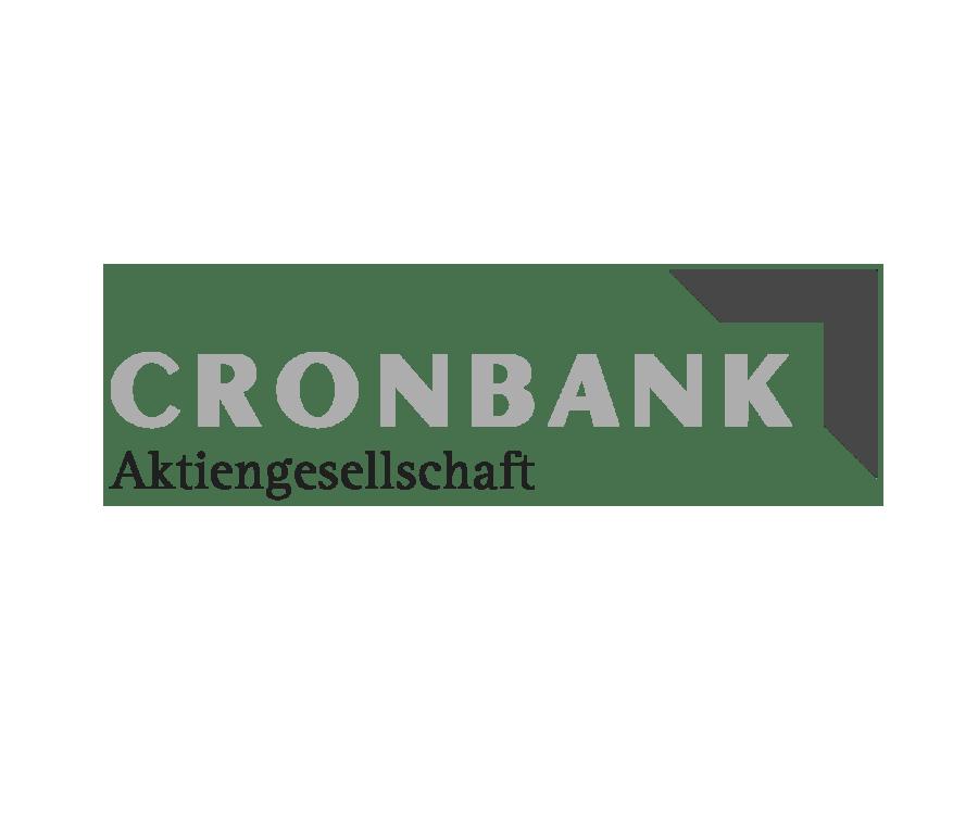 Logo Cronbank schwarzweiß