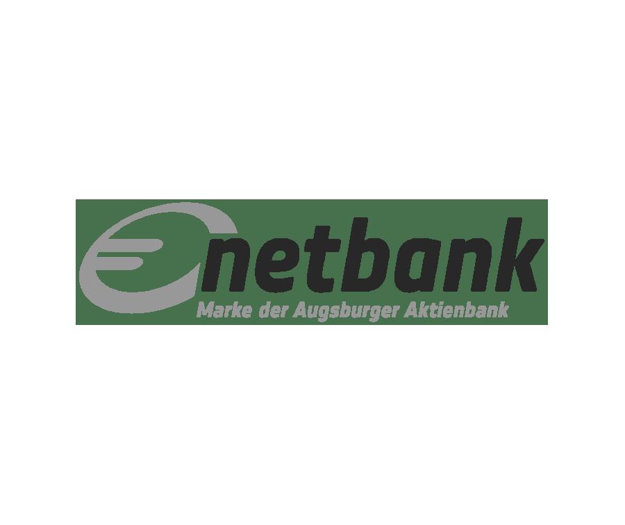 Logo Netbank Augsburger Aktienbank schwarzweiß