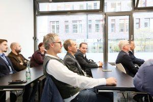 Konferenzraum mit Teilnehmern der 1. ECON Customer Conference 2019 im Bauwerk Hafen